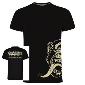 Gas Monkey Garage GMG Official Merchandise Script Side Monkey T Shirt Mens