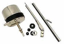 Universal Stainless Steel 12V Windshield Wiper Motor Kit Rat Street Rod Chevy
