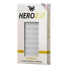 East Coast Dyes Hero 2.0 Face-off Lacrosse Mesh - White (New)