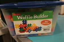 Lakeshore Learning Waffle Builders Colorful Block Building Set NEW Sensory Toy