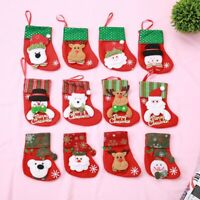 Mini Christmas Stockings Socks Santa Claus Candy Gift Bag Christmas Decorations