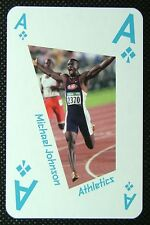 1 x playing card London 2012 Olympic Legends Michael Johnson Athletics Ace Clubs