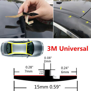 "118"" Rubber Car Roof Door Gutter Seal Window Sunroof Cover Strip Water Dustproof"