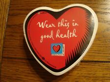 "Pfizer Us Pharmaceuticals ""Wear This In Good Health"" Heart - 2003 New & Sealed"