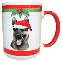 German Shepherd Christmas Coffee Mug 15 oz E&S Pets Dog Puppy Tea Cup Holiday