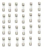Eaton's Bussmann 25 Pcs AGW6 6 AMP Glass Fuses NOS - USA Made