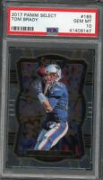 Tom Brady New England Patriots 2017 Panini Select Football Card #185 PSA 10