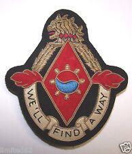 US Army GOLD BULLION UNIT INSIGNIA 119th Maintenance Battalion (RARE - 15 MADE)