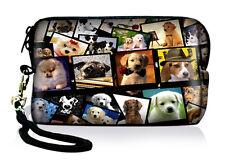 Dogs Miniature Digital Camera Case Bag Pouch For Nikon Canon Kodak Sony Samsung