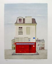 MARY FAULCONER Hand Signed Limited Edition Lithograph RESTAURANT AU VIEUX PARIS