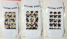 3PAIRS EXO Collection Cotton Ankle Socks K POP CHEN KAI KRIS TAO BAEKHYUN