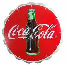 Coca-Cola Wood Contour Bottle Crown Clock