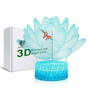 LAMPARA flash lento flor 3D ilusión lámpara de noche niños iluminacion luz le