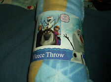 Disney Frozen Fleece Blanket Throw 40x60 New Anna Kristoff Sven & Olaf Cute