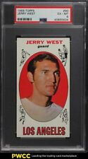 1969 Topps Basketball Jerry West #90 PSA 6 EXMT
