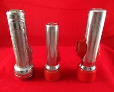 Lot of 3 Vintage Metal Ray-O-Vac Flashlights