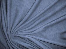 1 Lfm  Jersey 3,00€/m² reine Baumwolle, blaugrau meliert BC5