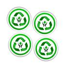 Reduce Reuse Recycle Vinyl Stickers With Words Set Of 4 X 45mm Green Eco Symbol