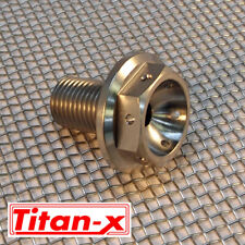 Yamaha R6 2004-12  front wheel spindle bolt Titanium drilled M14x1.5