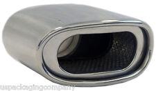 "Muffler Tip Exhaust Tail Pipe Chrome Euro Oval ID: 2.25"" OD: 2-5"" Length: 7"""
