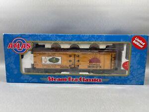 Atlas 8180-2 O 40' Wood Reefer Car Illinois Onion Growers #3701 (3 Rail) w/ Box