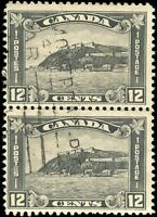 1930 Used Canada F Pair of Scott #174 12c King George V Arch/Leaf Stamps