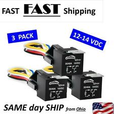 3 PACK -  - 12V Car SPDT Automotive Relay  5Pin 5 Wires Harness Socket 30A 40A