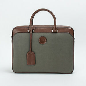 Prima Mela Eco Leather Twin Tone Laptop Briefcase Shoulder Bag Messenger Satchel