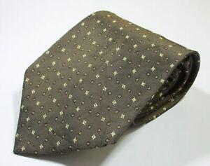 Salvatore Ferragamo Grenadine Pattern Brown Color Woven Silk Necktie Tie