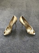 Shoes Dune High Heels Open Toe Gold Colour size 38 UK 5