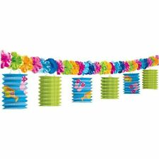 10ft Hawaiian Tropical Tiki Luau Paper Lantern Garland Party Decorations