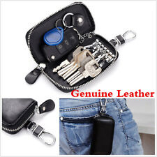 2018 Genuine Cow Leather Car Key Bag Wallet Key Case Holders With 6 Key Rings