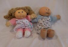 Cabbage Patch Kid Dolls 1978, 1982 with Outfits lot of 2 dolls Brother + Sister