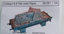 Artmaster 80.027 Ladegut: 8,8 Flak unter Plane  H0 1:87 Neu / OVP