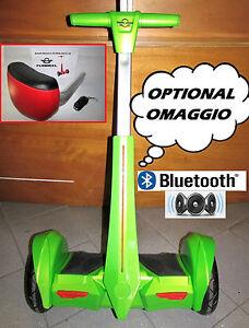 FLY BALANCE MONOPATTINO ELETTRICO 2 RUOTE VERDE 700W BLUETOOTH MANUBRIO