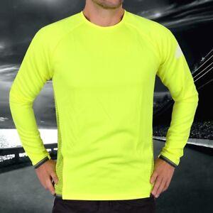Adidas Xa Sports Sweatshirt Children's Running Shirt Jumper Green Red Neon