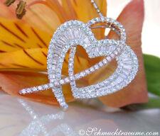 Liebe & Herzen Echtschmuck-Anhänger aus Weißgold für Damen