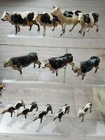 Vintage Timpo Britains Cherilea Toys lead Cows Calves Bulls vintage Figures