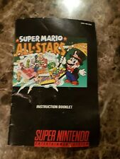 Super Mario All Stars SNES Book Only