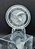 2020 $5 Proof Spinner Dolphin High Relief Silver Coin RAM Limited Mintage 1000