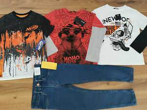 boys 5-6 years bundle tops jeans new George Nerf H&M