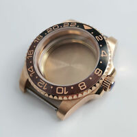 Rose Gold Automatic Watch Case for NH35 NH36 MIYOTA 8215 Sapphire Glass Screw