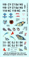 Berna Decals 1/72 DASSAULT MIRAGE F1CR & MIRAGE F1CT French Jet Fighters