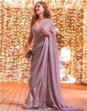 Sari Saree Indian Designer Wear Wedding Pakistani Blouse Party Bollywood New