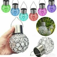 5PC Solar Power Crystal Hanging Light Ball Colour Changing Garden Party Lamp