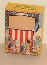 PUNCH & JUDY MONEY BOX TIN BANK - Original BOX & KEY ONLY - 1940's