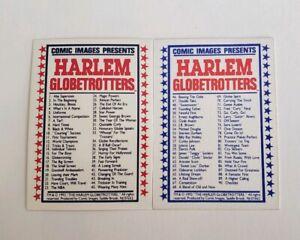 1992 Comic Images Harlem Globetrotters 90 Card Set