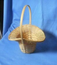 WICKER BASKET with Handle Gift Plant Easter