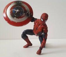 Marvel Legends Civil War Spider-man figure With Captain America Shield