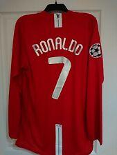 2008 Nike Manchester United #7 Cristiano Ronaldo UCL Final Jersey Size XL